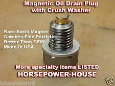12mm 1.5 MAGNETIC OIL DRAIN PLUG BOLT & CRUSH WASHER @ Honda Yamaha Kawasaki