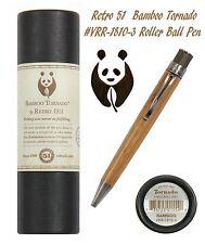 Retro 51 #VRR-1810-3 / Genuine Bamboo Rollerball Tornado Pen