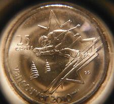 2007 Alpine skiing Twenty-Five Cents * 2010 Olympics * Choice BU From Mint Roll