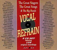VOCAL REFRAIN GREAT SINGERS / SONGS / BIG BANDS SWING NEW 5 CD SET 125 ORIGINALS