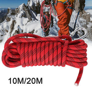 10/20M Heavy Duty Rock Climbing Rope Cord 12mm 2100kg for Use Emergency Outdoor