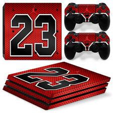 Sony PS4 PlayStation 4 Pro Skin Sticker Screen Protector Set - Magic 23 Motif