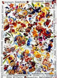 Original vintage poster SWISS ART EXPO BERN 1984 Tinguely
