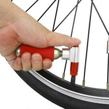 CO2 Bicycle Bike Tire Air Pump Mini Cycle Tyre Inflator Presta Schrader Red