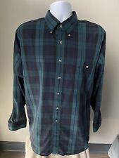 NEW Gant Men's Shirt Blue Green Plaid Size XL