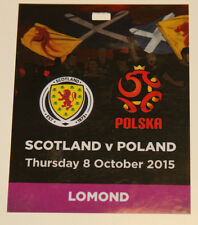 Ticket PASS VIP for collectors EURO q * Scotland Poland 2015 Glasgow