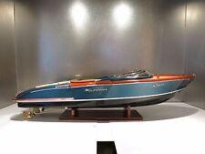 MODEL Riva AQUARIVA finition NEWSON 65 CM - Wooden Model Boat High quality