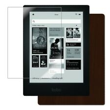 Skinomi Tablet Skin Dark Wood Cover+Clear Screen Protector for Kobo Aura HD