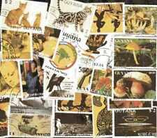 GUYANA collections de 50 à 600 timbres différents oblitérés
