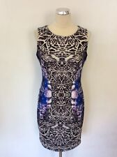Star by Julien MacDonald Blue Floral & Animal Print Dress Size 12 Cost