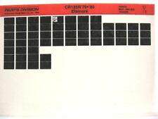 Honda CR125 CR125R 1979 1980 Parts List Catalog Microfiche a481