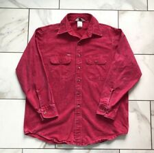 VTG Carhartt Pink Denim Work Shirt Acid Stone Wash Men's XL - Union Made