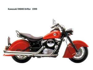 Motorcycle Canvas Picture Kawasaki VN800 Drifter 1999 Canvas 16x12 inch