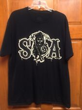 SONS OF ANARCHY SOA TACKLE TWILL FAUX PATCH SAMCRO REAPER BIKER T SHIRT XL
