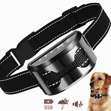 Anti Bark Dog Shock Collar Trainer Ultrasound No Barking Rechargeable Waterproof