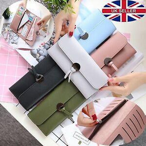 UK Fashion Women Leather Clutch Wallet Long Card Holder Case Purse phone Handbag