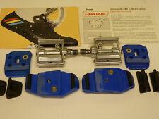 NOS vintage Contak clipless pedals, pair, Italian Brevettato