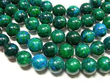 "Chrysocolla 14mm Round gemstone beads, 15 "" strand"