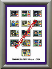 EVERTON - 1973-74 - REPRO STICKERS A3 POSTER PRINT
