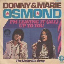 "DONNY & MARIE OSMOND I'M LEAVING IT / THE UMBRELLA 1974 RECORD YUGOSLAVIA 7"" PS"
