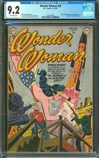 WONDER WOMAN #50  CGC  9.2 NM-  INCREDIBLE HIGH GRADE BOOK FROM 1951! OW PAGES