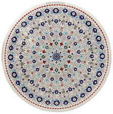 90 cm Pietra Dura CouchtischTisch Florentiner Mosaik table wohnzimmertisch White