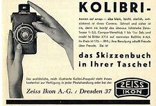 Dresden ZEIS IKON A. - G. Hummingbird - The Sketch Book... Historical Advertising 1930