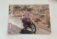 YAMAHA AG100 Motorcycle Sales Brochure c1982 #0107621-82E
