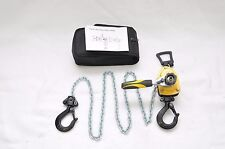 ToolTuff 1/2 Ton 1000 lb Manual Lever Chain Hoist, Portable, With Carrying Case