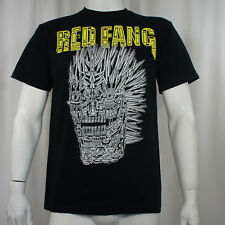 Authentic RED FANG Band Mechanical Wolf Face Logo T-Shirt S NEW