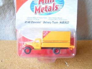 Classic Metal Works HO 41/46 Chevrolet Delivery Box Truck Nabisco #30299