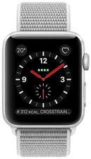 Apple Watch Series 3 GPS+LTE 42mm Aluminium silber mit Sport Loop muschel