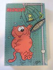 """Vintage """"Heathcliff"""" 1982 Jigsaw Puzzle. 84 pieces. Complete 13"""" x 20"""" birdcage"""