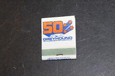 greyhound buses match book with matches old matchbox matchbook