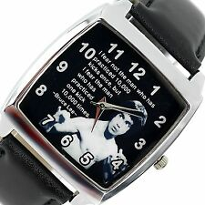 BRUCE LEE FILM DVD MOVIE STAR GYM SPORT MOTIVATION Steel LEATHER SQUARE WATCH