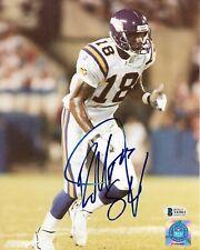 RANDY MOSS AUTOGRAPHED SIGNED NFL MINNESOTA VIKINGS FOOTBALL BAS 8X10 PHOTO