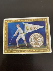 Murad College Series T51 Card: Catholic U- Hammer Throw, 1910, Nice Shape
