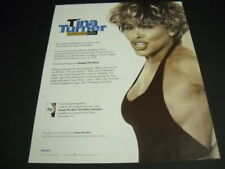 TINA TURNER is Simply The Best original 1991 PROMO POSTER AD mint condition