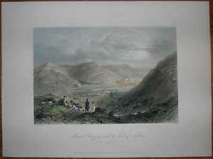 1847 Bartlett print MOUNT GERIZIM AND VALLEY OF NABLUS, PALESTINE (#26)