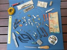 Vintage Fishing Lures: Various old lures and other vintage fishing tools.