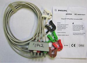 Philips 5 Lead Set Grabber AAMI, M2593A