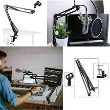 More details for mic microphone stand suspension boom scissor arm holder studio broadcast desktop