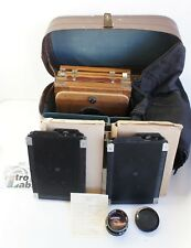 Vintage FKD13x18 wooden large format camera, Industar-51 F4.5/210, CASE, 2Casset