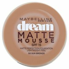 Maybelline Dream Matte Mousse Foundation 18ml SPF 15 - 50 Sun Bronze NEW Sealed