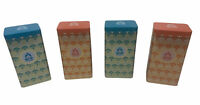 Teavana Tins Cans Storage Canisters 4 pc lot 2 Orange 2 Blue Scales 7 oz