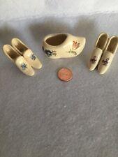 Vintage-Lot Of 3- Tiny Shoes ! Decorative Ceramic Miniature Collectors Shoes