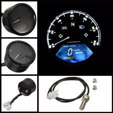 12000rpm Motorcycle Speedometer Gauge Universal LCD Digit Tachometer Odometer US