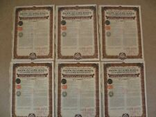 More details for 6x republique chinoise 5% gold bond certificates 1925 fifty usa gold dollars