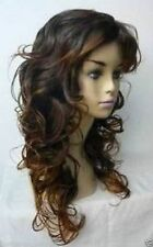new Pretty long women's fashion Brown mix hair wig wigs for women