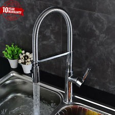 Kitchen Tap Sink Mixer Single Lever Modern Chrome Flexi Spout, 2 Way Flow Spray